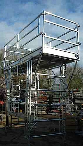 Special bespoke scaffold tower design and build