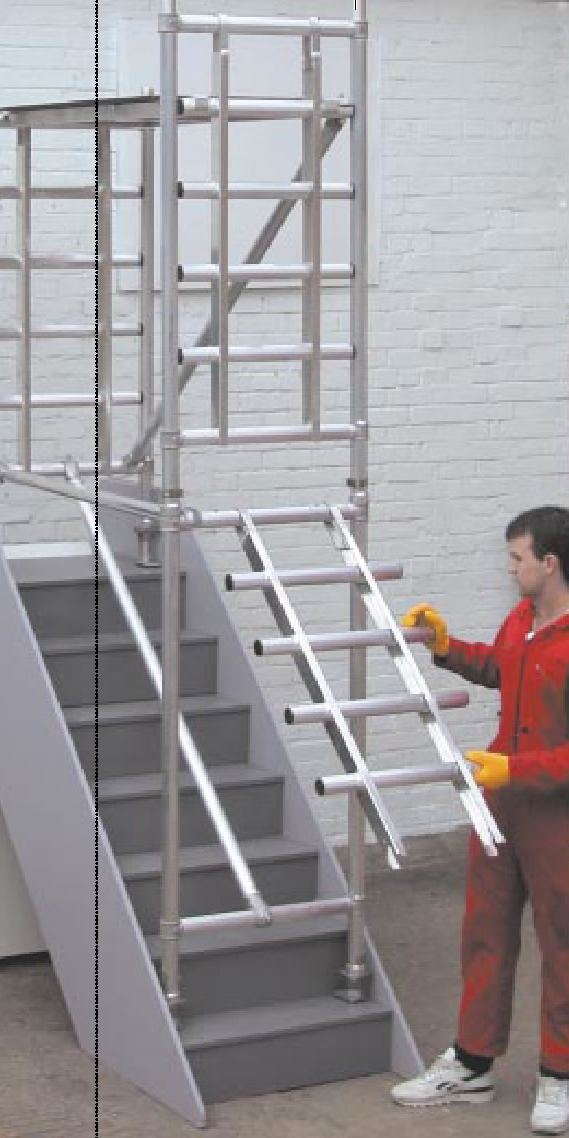 Staircase Regulations Uk >> Interlink Alloy - Stair deck aluminium scaffold towers.