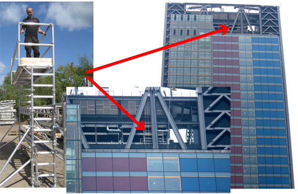 Special Alloy Access Scaffold Tower Leadenhall Building